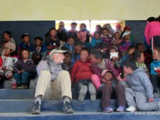 We visited the Hillary School in Khumjung and I got a chance to sit with the kids for a bit - what fun.