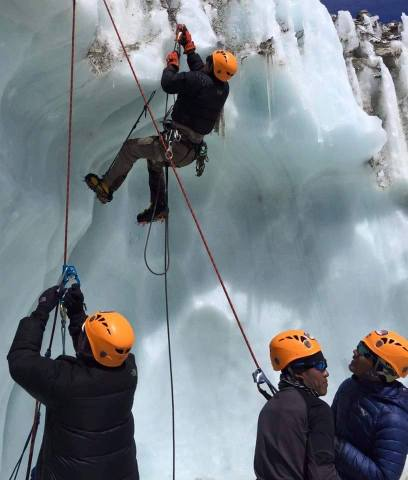 Icefall Doctors training in 2016. Courtesy of Pemba Sherpa