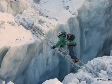Kami climbing in the Khumbu Icefall 2016