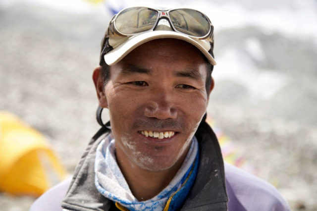Kami Rita Sherpa, withe AAI team, summited for the 21st