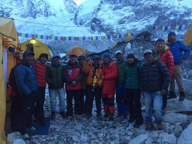 Kami Sherpa with Dreamers Destination Everest 2017 Team