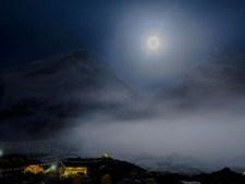 full moon above the Khumbu icefall. courtesy of Ben Jones