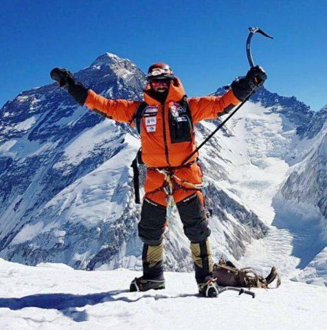 Alex Txikon on the summit of Pumori