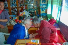 Alan and Lama Geshe during a blessing
