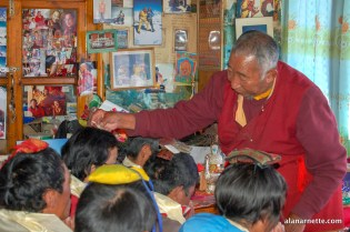 Lama Geshe blessing Sherpas