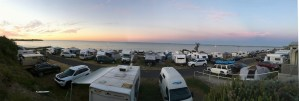 The view from our cabin at Sea Vu caravan park, Robe