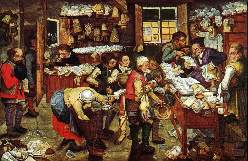 Målning av skatteindrivning, Pieter Brueghel den yngre