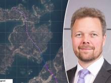 Karta över planerad kortrutt, Mika Nordberg infälld