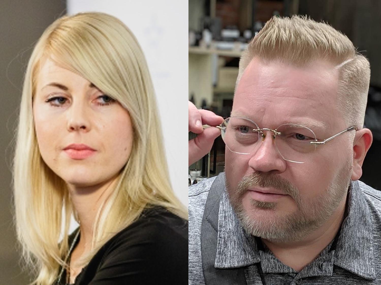Jessikka Aro och Johan Bäckman