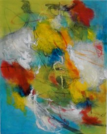 """""""The Cloud of Unknowing"""" 16""""x20"""" Encaustic and Mixed Media on Panel AVAILABLE"""