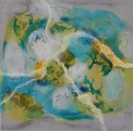 """""""Terrestrial IV"""" """"x12"""" Encaustic, pigment, oil, and ink on panel AVAILABLE"""
