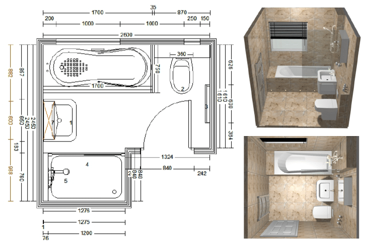 bathroom cad design from alan heath & sons in warwickshire
