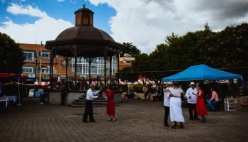 Domingo en el centro de Apan, Hidalgo, México