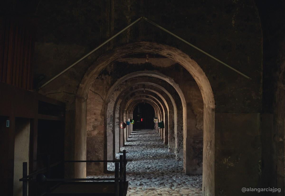 Pasillo en Ex-convento de San Nicolás de Tolentino en Actopan, Hidalgo, México