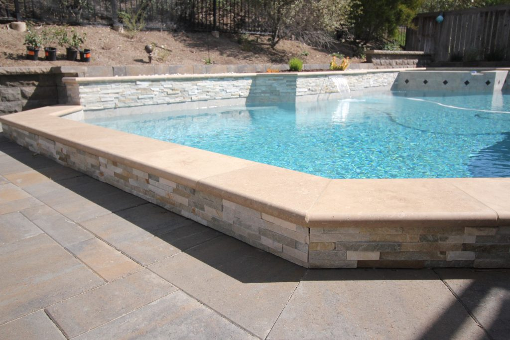 Natural Stone Coping Alan Smith Pool Plastering Remodeling