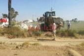 بالصور إزالة 29حالة تعدي علي أملاك الدولة والأراضي الزراعية بقري الفشن جنوب بني سويف