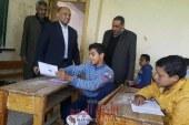 وكيل وزارة التربيه والتعليم بسوهاج يتفقد أعمال امتحانات الشهادة الإعدادية بالبلينا