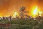 """حريق """"هائل"""" بقرية في الفيوم والخسائر كبيرة.. اعرف التفاصيل"""