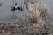 طائرات الاحتلال، تشن، سلسلة غارات على مواقع مختلفة في قطاع غزة.