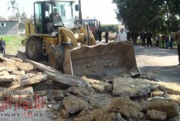 إزالة 63 حالة تعدى على أراضي زراعية وأملاك الدولة بالبحيرة