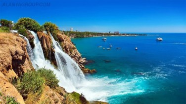 Antalya sinkhole waterfall