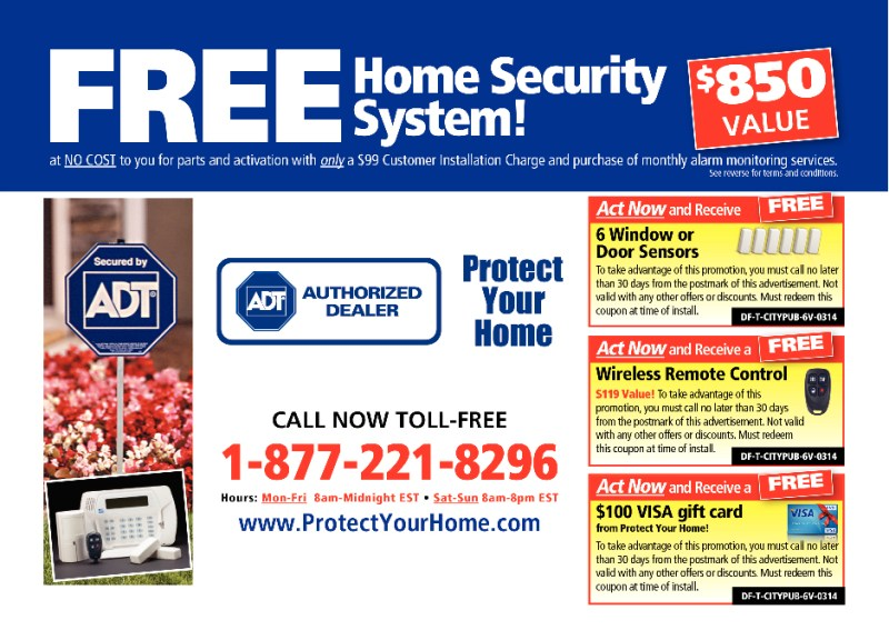 Example mailer from competing security dealer program