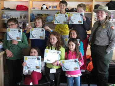 Junior Rangers with National Park Ranger