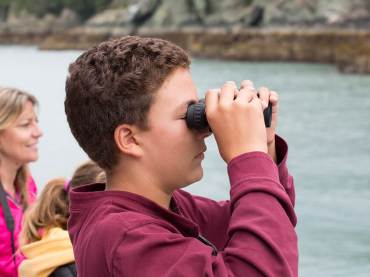Young Explorer Searching for Wildlife
