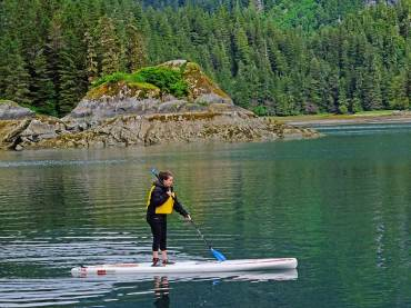 Stand Up Paddle Boarding in Protected Bay