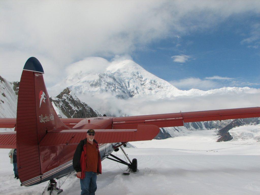 Glacier landing Mt. Denali