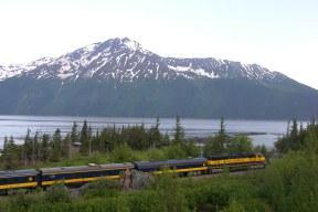 Alaska railroad on Turnagain Arm