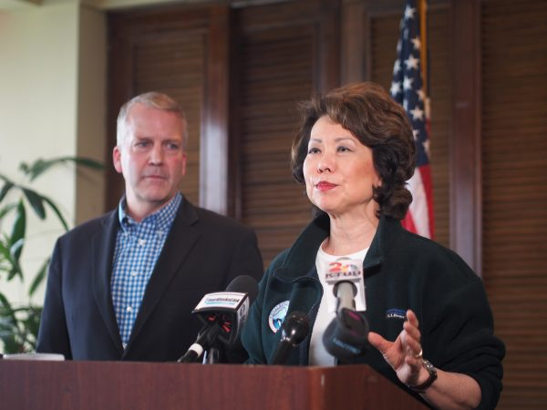 Image result for image secretary elaine chao in alaska