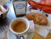 The main event in Siracusa: Espresso and croissant.