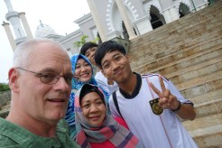 At the mosque.