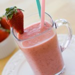 Healthy Strawberry Banana Milkshakes