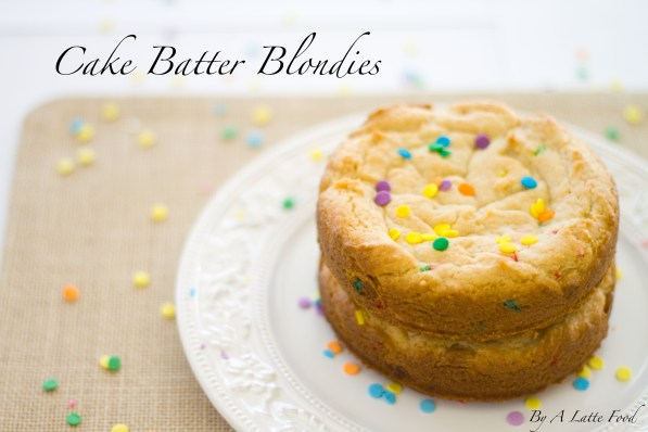 These cake batter blondies are thick, chewy, and perfectly sweet! The batter begins with cake mix, giving the blondies that sweet cake batter flavor. With the addition of other ingredients, these easy homemade blondies are rich, flavorful, and taste just like cake batter!