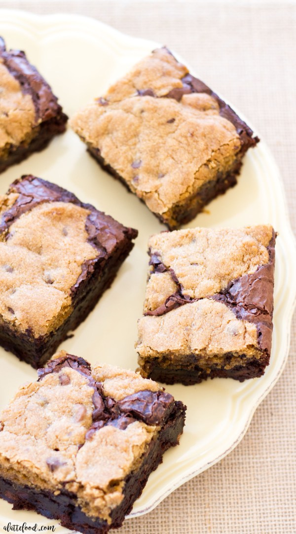 Chocolate Chip Cookie Brownies: Rich, dense, and incredibly gooey, these fudgy cookie brownies are a chocolate lover's dream!