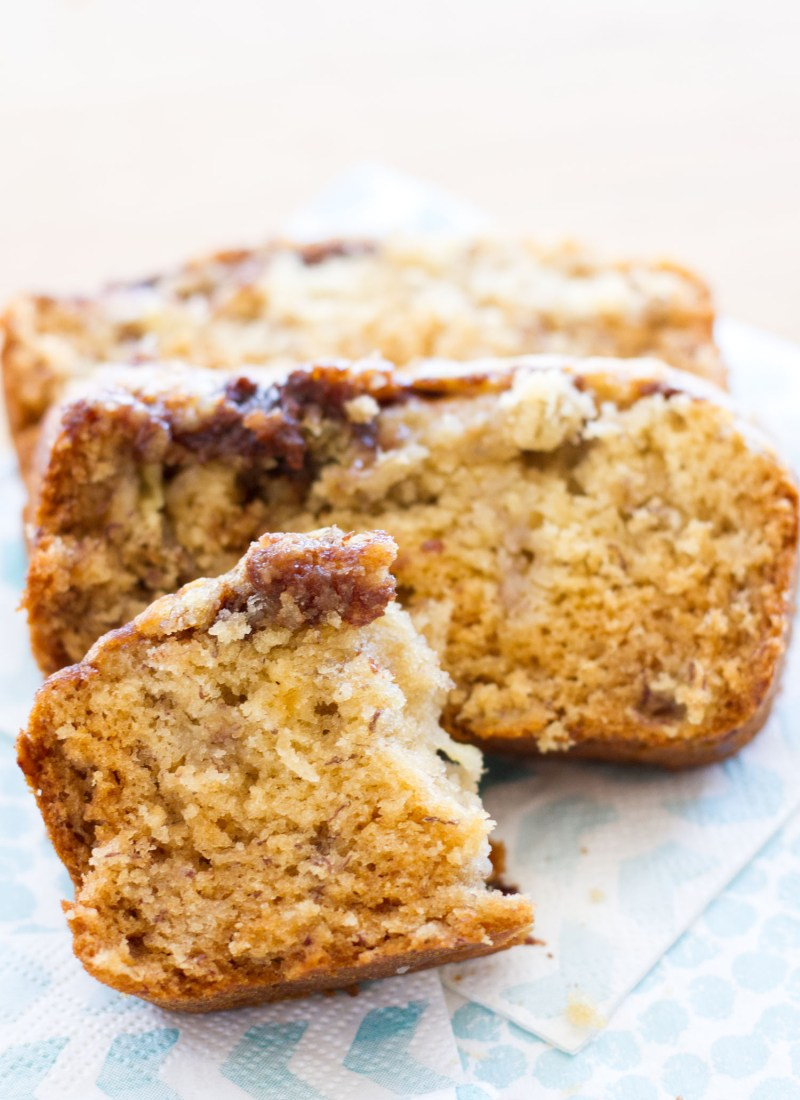 This Nutella Banana Bread is one my favorite quick bread recipes! The addition of Nutella gives a nutty, chocolate flavor to my favorite classic banana bread recipe!