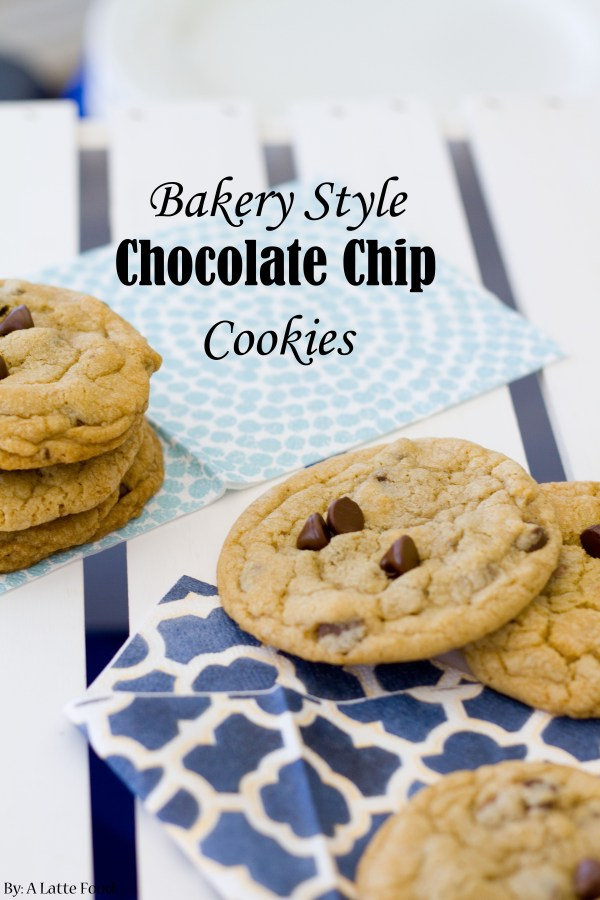 Bakery Style Chocolate Chip Cookies | A Latte Food