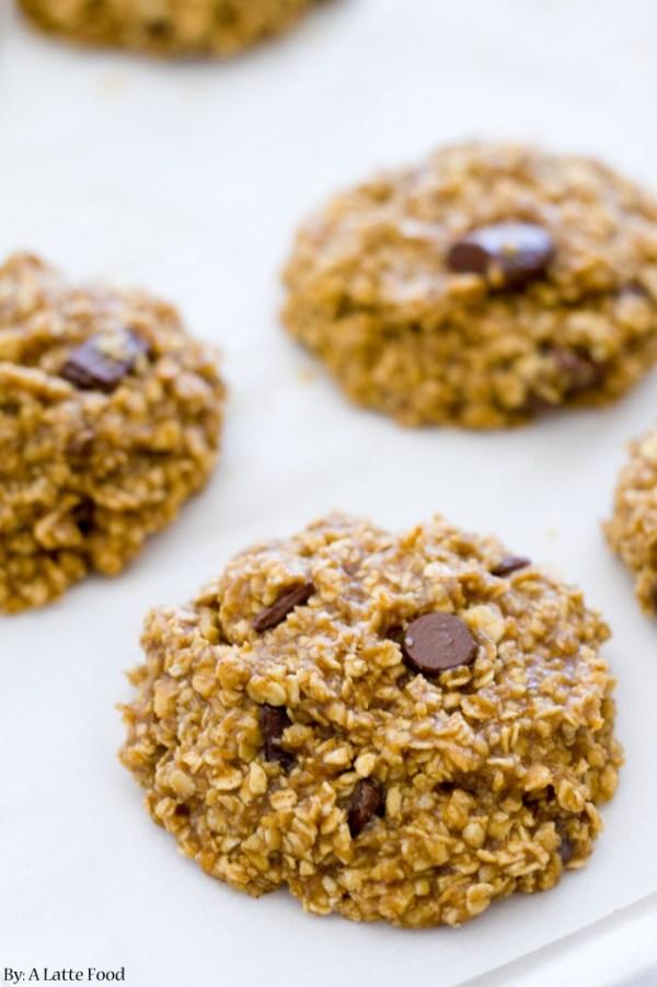 Healthy Peanut Butter Banana Cookies | A Latte Food