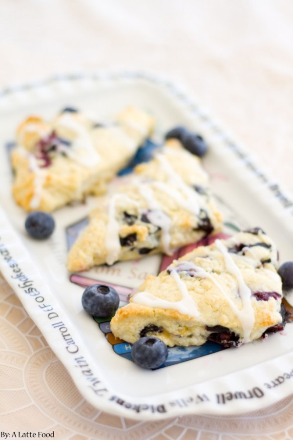 Lemon Blueberry Scones | A Latte Food