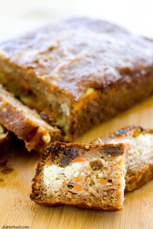 Cheesecake Stuffed Carrot Cake Bread   A Latte Food