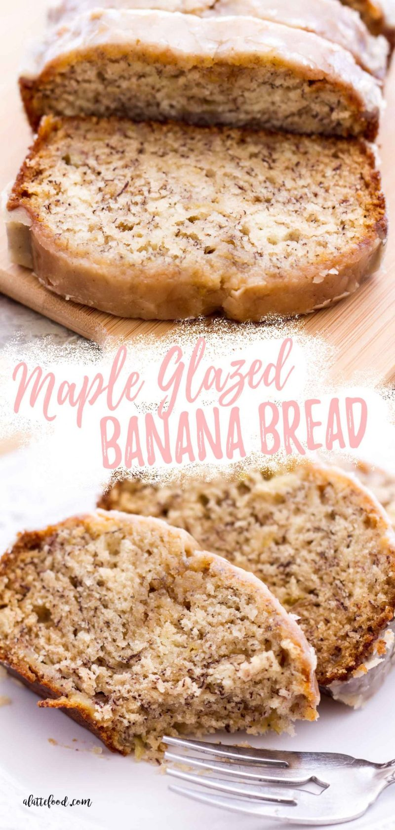 banana bread collage with text