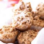 glazed apple muffins with oat crumble