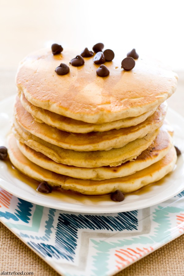 Chocolate Chip Oatmeal Pancakes | A Latte Food