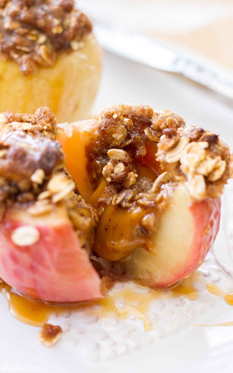 Brown Sugar caramel stuffed baked apples recipe