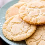 Easy snickerdoodle cookies in cinnamon sugar