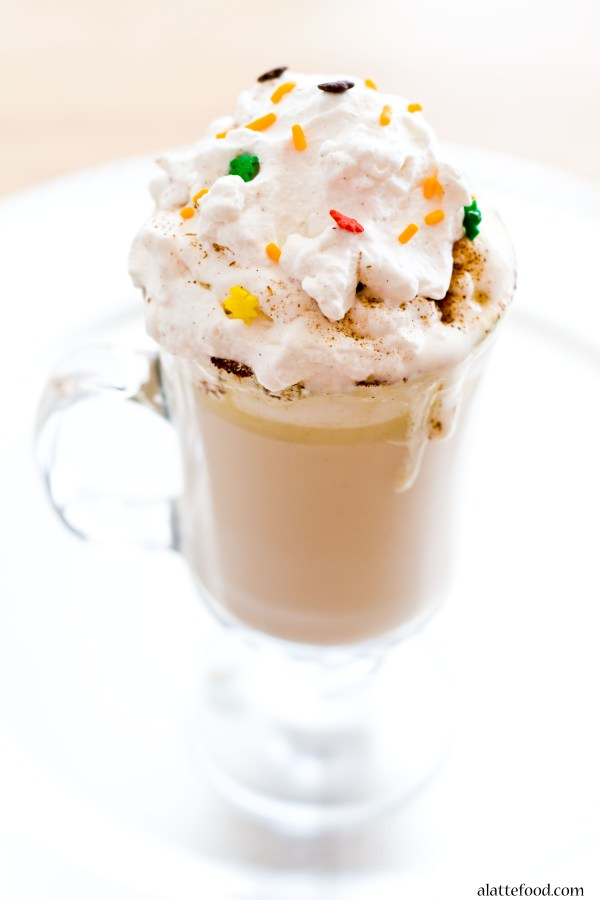 Spiced White Hot Chocolate | A Latte Food