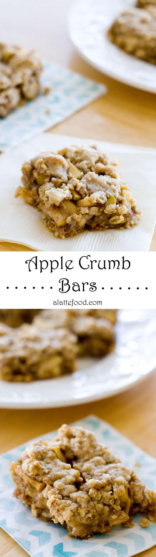 Apple Crumb Bars | A Latte Food