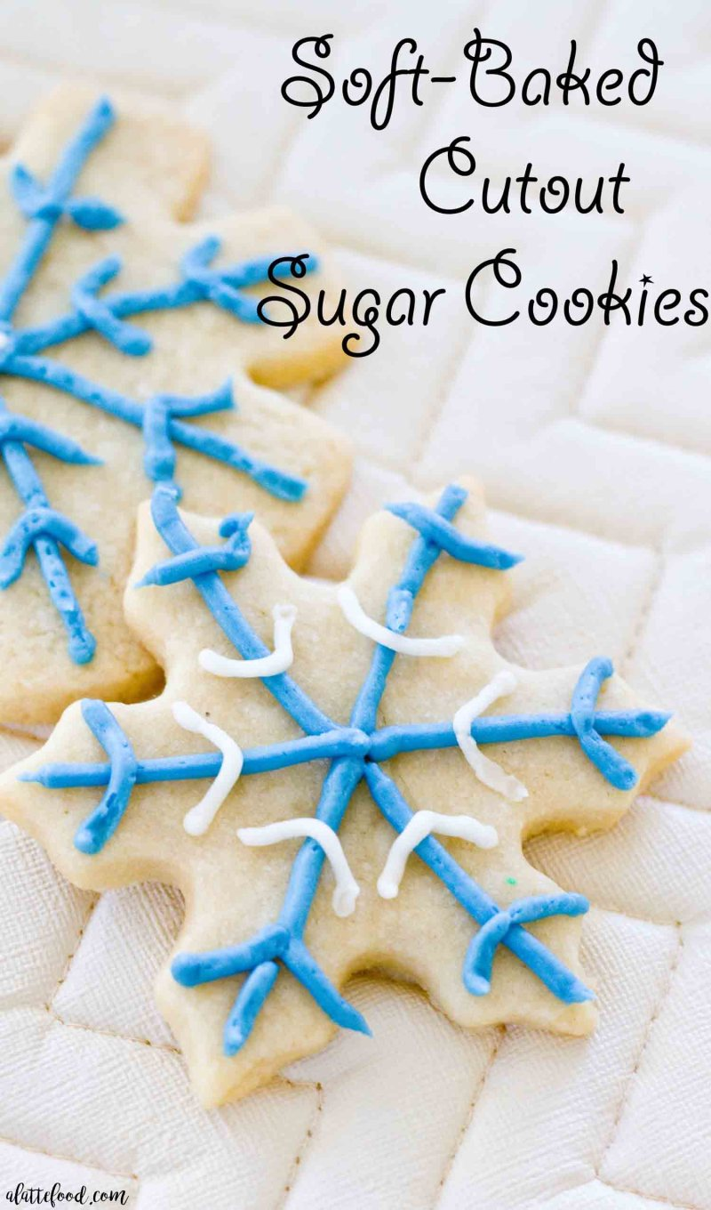 Soft-Baked Cutout Sugar Cookies: These soft rollout sugar cookies have Christmas and New Years written all over them! It's the perfect Christmas cookie recipe, if you ask me. These Cutout Sugar Cookies are made with homemade frosting and are such a simple classic christmas cookie recipe.